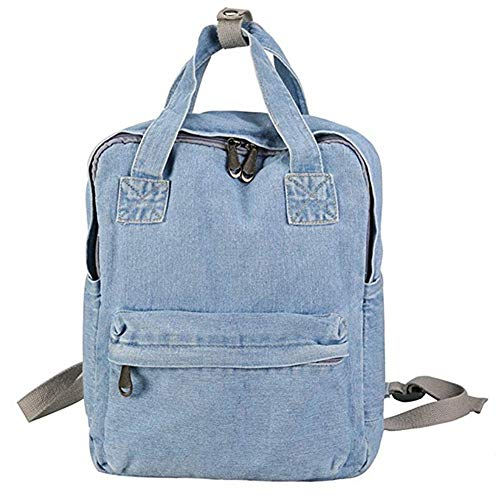 Jeans Backpack Womens Multifunctional Children's School Backpack Jean Rucksack Denim Backpacks for Teen Girls Lightweight Casual Canvas Daypack