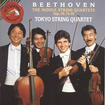 Beethoven: Middle Quartets Opp. 59, 74, 95