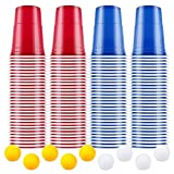 AOLUXLM [100+10] Beerpong Partybecher Beer Pong Becher 480ml /16OZ Bier Pong Cups Party Becher | Wiederholbare Trinkbecher Camping Cocktail Bier Weihnachten Geburtstag Hochzeit -