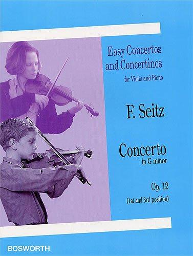 Consert g-moll op.12: voor viool (1e en 3e laag) en piano