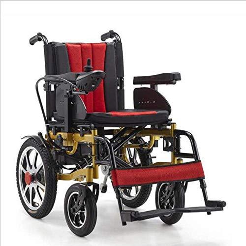 Elektro-Rollstuhl, Modern Safety Design Licht Folding Carry Durable Elektro-Rollstühle für Behinderte Ältere im Freien angenehm Leder Rollstuhl
