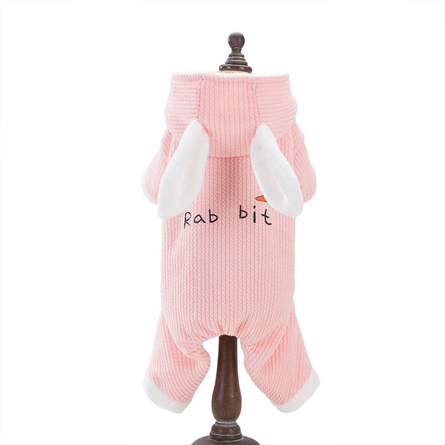 Cat Dog Puppy Hoodies Cute Warm Coats Winter Vest Windproof Cold Weather Cat Jacket Pet Apparel Christmas Small Medium Large Dog Clothes,Pink,XS