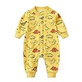 LEXUPE Baby Unisex Langarm Overall Baby Herbst und Winter Outfit Warm Stramper mit Kapuzen Baumwolle...