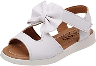 Summer Kids Sandals Fashion Bowknot Girl Flat Pricness Shoes Baby Dance