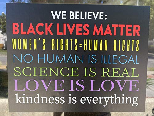 WE BELIEVE Sticker Decal | Justice For All | Store or Home | BLACK LIVES MATTER | LGBTQ