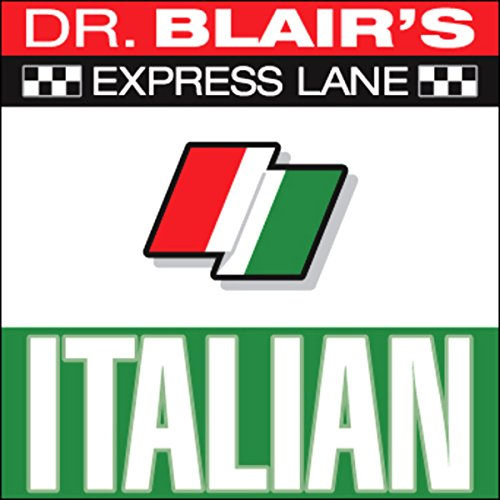 Dr. Blair's Express Lane Italian audiobook cover art