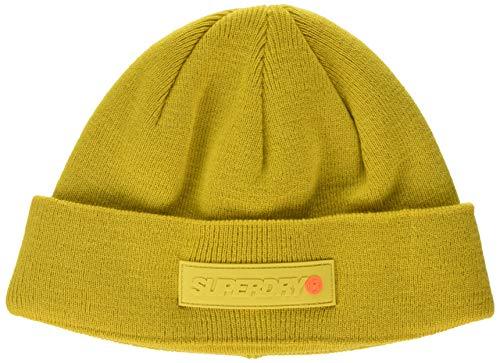 Superdry Skate Lux Beanie Gorro de Punto, Amarillo (Sulphur Yellow 22k), OS...