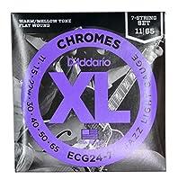 DADDARIO ダダリオ 7弦エレキギター弦 ECG24-7 XL Chromes Flat Wound Jazz Light 7-string