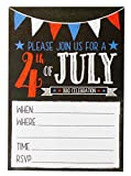 4th of July Invitations – 50-Pack BBQ Party Invitations Cards, Patriotic Party Invitations, Ideal for Picnic, Family Reunion, BBQ Party Supplies, Envelopes Included, 5 x 7 Inches