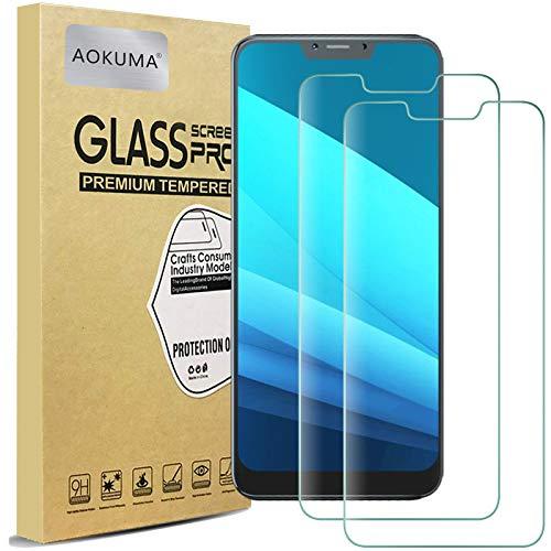 AOKUMA für Cubot C20 Panzerglas, 【2 Stücke】Glas kompatibel mit Cubot C20 Schutzfolie, Premium Glasfolie mit 9H Festigkeit, Anti Kratzer, Splitterfest,Anti-Öl,Anti-Bläschen