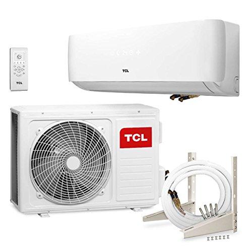 TCL CE 12000BTU Split climática Aire Acondicionado climática dispositivo a + + (plana, chapado en oro, de Quick Connector + 4m líneas)