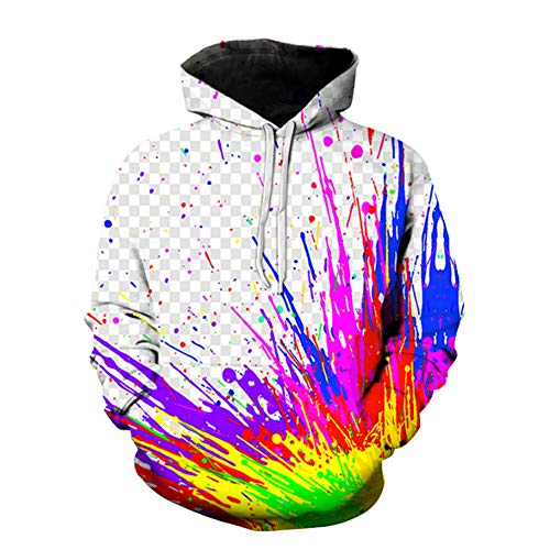 M STAR Geometrische Graffiti 3D Digitaldruck Lose Mode Hoodie Baseball Uniform Pullover,Wk2216,5XL