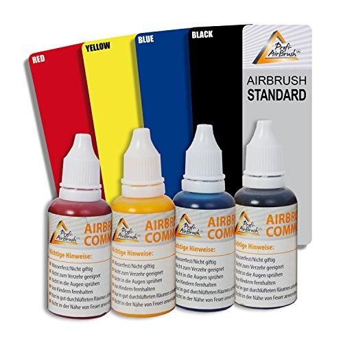 4er-Airbrush Farben Set – zur kreativen Erstellung von AIRBRUSH-TATTOOS und AIRBRUSH-KÖRPERBEMALUNG mit Airbrush-Kompressor und Airbrush-Pistole AIRBRUSH-SET: 4er-Airbrush Farben Set – zur kreativen Erstellung von AIRBRUSH-TATTOOS und AIRBRUSH-KÖRPERBEMALUNG mit Airbrush-Kompressor und Airbrush-Pistole
