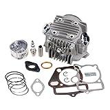 GOOFIT 110cc 125cc Culasses de cylindre avec joints pistons Ensemble culasse bougie d'allumage et...