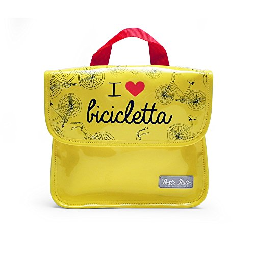I Love Bicicleta thsd32, Bolsa Porta Tablet Unisex–Adulto, Amarillo, Small