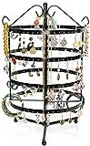 LAUBLUST Schmuckständer im Karussell Design - ca.35x27x27cm, Schwarz - Dekorativer Metall Schmuck-Halter 4 Etagen & Drehbare Schmuck-Räder | Schmuck-Aufbewahrung | Ohrring-Ständer | Ketten-Halter