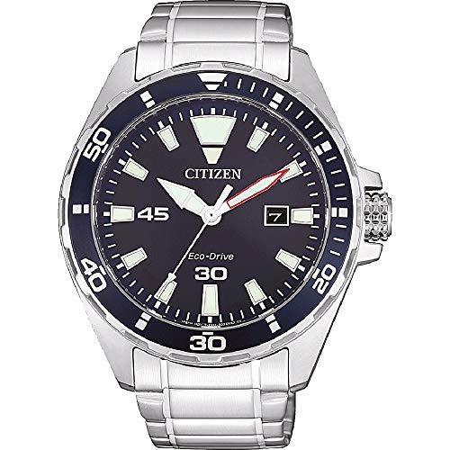 CITIZEN Herren Analog Eco-Drive Uhr mit Edelstahl Armband BM7450-81L