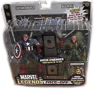 Marvel Legends Face Off Series 1 Variant Captain America vs. Red Skull Twin Pack Figure Set
