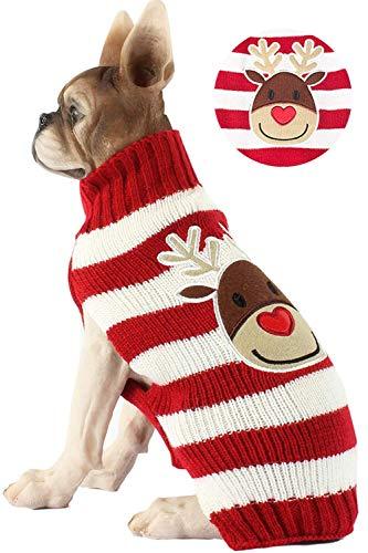 BOBIBI Pet Cartoon Reindeer Christmas Dog Sweater