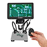 SVBONY SV604 デジタル顕微鏡 LCD 7インチ 1x-1200x倍率 USBマイクロスコープ 12M1080P 8つLEDライト付き HDスクリーン 有線リモコン 充電式バッテリー内蔵回路基板修理など用 電子顕微鏡