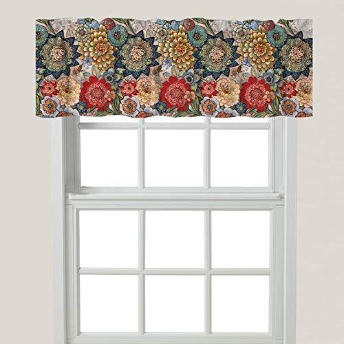 Laural Home Boho Bouquet Window Valance, Blue