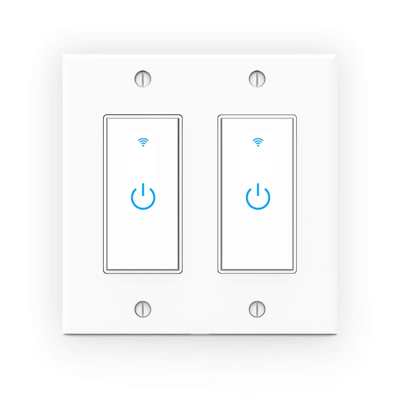 WiFi Light half Switch Smart 2 Gang Manufacturer regenerated product - Compat Wall Touch