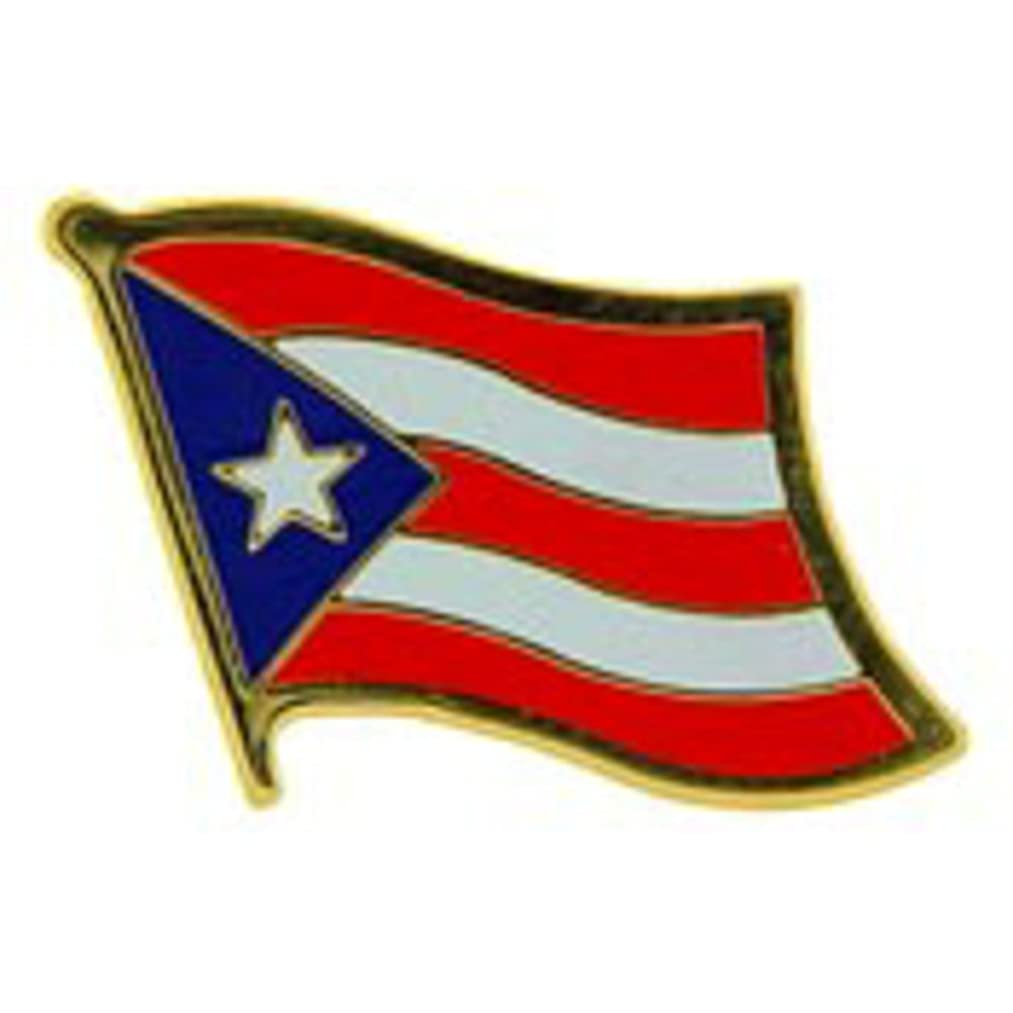 EagleEmblems P09591 PIN-Puerto RICO (Flag) (1'')