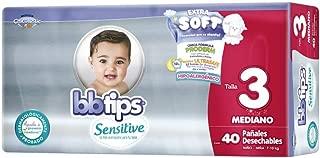 BBtips Sensitive, Unisex, Talla Mediana, 160 Pañales