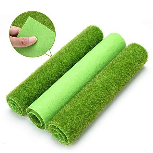 Youdong 4pcs Gazon Artificiel Synthétique Exterieur et Intérieur Herbe Vert Mat Haute Densité en Plastique pour Jeux Maison Terrasse Artificiel synthétique d'intérieur Faux pour des Animaux Jardin