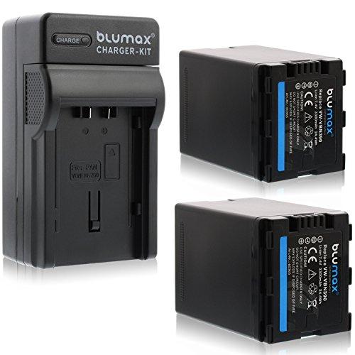 Blumax 2X ersetzt VW-VBN390 3300mAh + Ladegerät VW-VBN390 | ersetzt Panasonic HDC-SD800 HDC-SD900 HDC-SD909 HDC-TM900 HDC-HS900 - HC X929 X810 X909 X900 X800