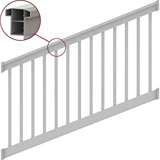 T-Top Stair Rail Kit White with Square Balusters (8 ft. x 36 in.)