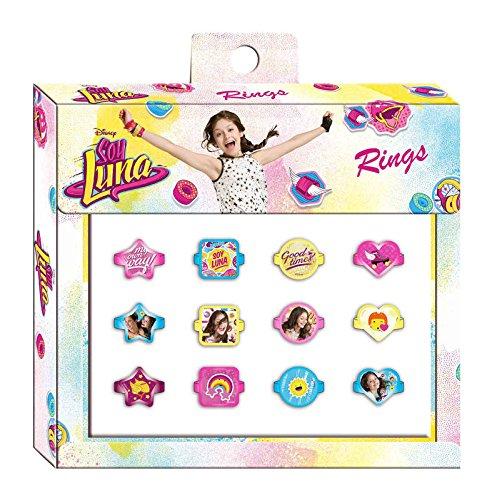 Caja 12 anillos de Soy Luna