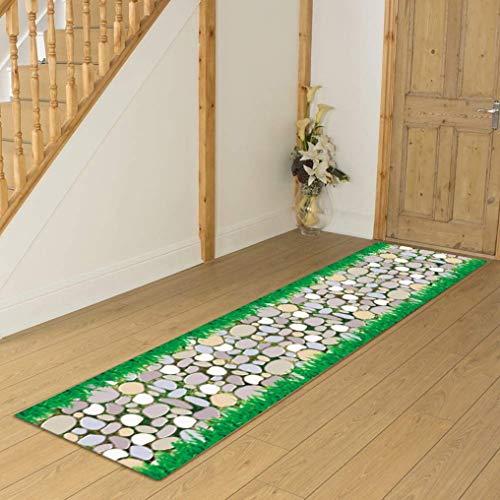 Alfombra suave 100% polipropileno para pasillo, decoración del hogar, pasillo (color: A, tamaño: 1 × 1 m)