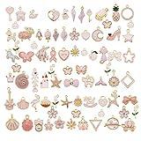 30pcs Mixed Enamel Pink Theme Charms Pendants for Jewelry Making Bulk lot Necklace Earrings Bracelet Craft Findings
