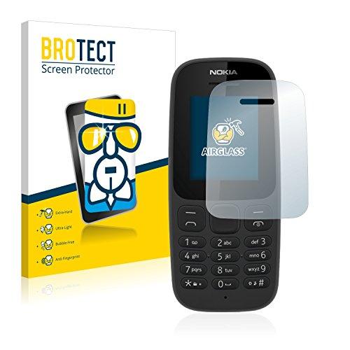 BROTECT Vetro Compatibile con Nokia 105 2017 Pellicola Protettiva Durezza 9H AirGlass