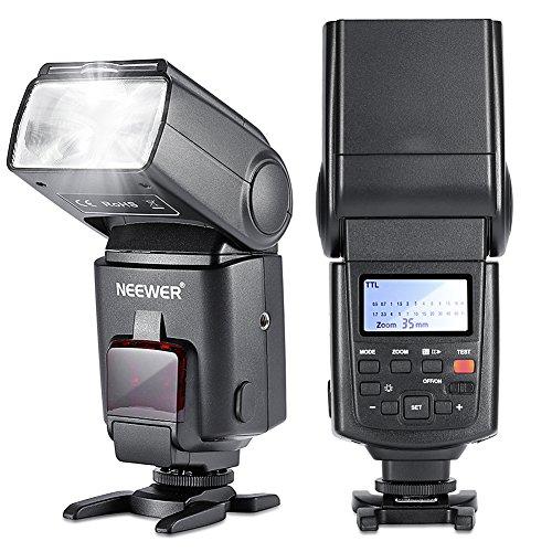 Neewer NW680/TT680 HSS Speedlite Flash E-TTL - Cámara flash para Canon 5D MARK 2 6D 7D 70D 60D 50D T3I T2I y Otras Cámaras Canon DSLR, color negro