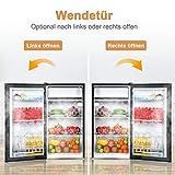 COSTWAY Kühlschrank mit Gefrierfach Standkühlschrank Gefrierschrank Kühl-Gefrier-Kombination / 91L / Schwarz - 3