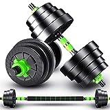 Hantel Hantel Hanteln Gewichtssatz for Gewichtheben und Bodybuilding Hex Gummi Gewicht-Training...