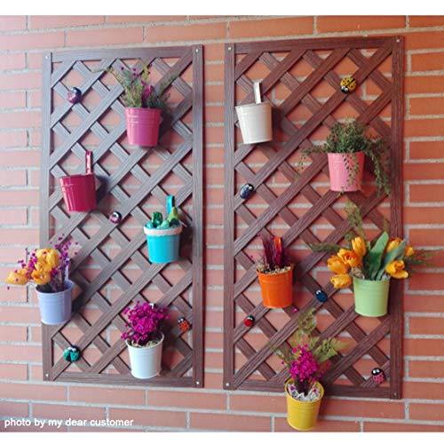 GIOVARA Metall-Blumentopf-Eimer zum Aufhängen, Übertopf mit Abflussloch, mit abnehmbarem Haken, für Garten/Balkon/Wohndekor (10 Stück im Sortiment in 10 Farben) - 5