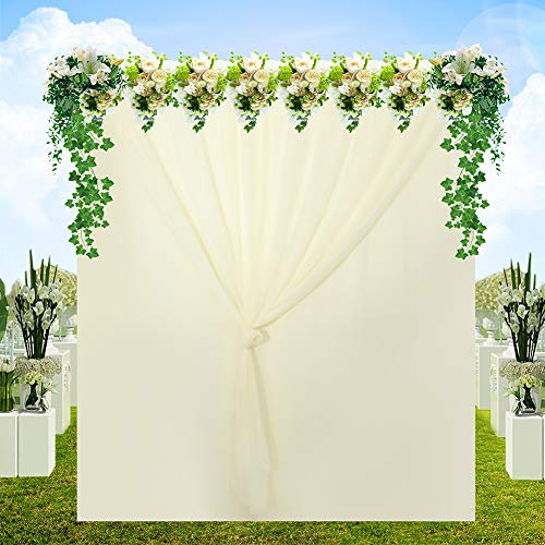 5×10ft Double Tulle Backdrop Curtains Party Wedding Photo Drape Backdrop for Engagement Bridal Baby Shower Photography Props Home Party Event