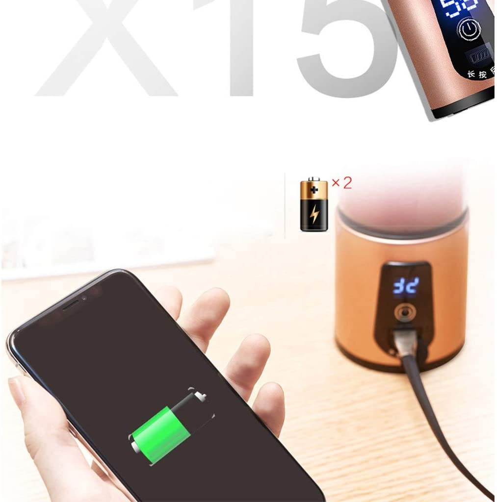 Juicer Exprimidores eléctricos hogar automático portátil Multi-función Agua pequeño Mini Estudiante Carga portátil Taza de Jugo (Color : Pink) Metallic