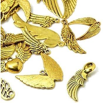 HA12760 Charming Beads 30 Grams Antique Gold Tibetan Random Shapes /& Sizes Mixed Charms