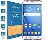 PREMYO Cristal Templado Protector de Pantalla Compatible con Samsung Galaxy J7 2016 Dureza 9H Bordes 2,5D Sin Burbujas contra Arañazos