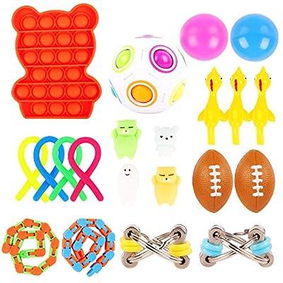 Herefun Juguetes Sensoriales Fidget, Juguetes para Aliviar el Estrés Autismo Figet la Ansiedad Toy Juguete Sensorial Fidget Set Paquete de Juguetes para Aliviar el Estrés para Niños(A) de Herefun