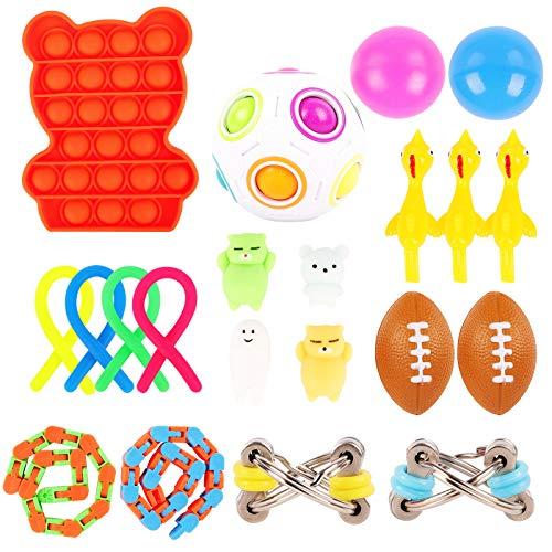 Herefun Juguetes Sensoriales Fidget, Juguetes para Aliviar el Estrés Autismo Figet la Ansiedad Toy Juguete Sensorial Fidget Set Paquete de Juguetes para Aliviar el Estrés para Niños(C)