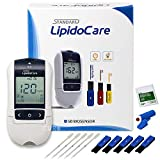Professional Grade Lipid Blood Cholesterol Test Home Kit - (All-in-One 10ea x Profile Cholesterol Test Strips Included)