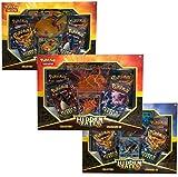 Pokemon Hidden Fates GX Collection Box Bundle | Charizard, Gyarados, Raichu + Hit Kit
