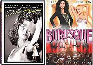 Gift of Music Movie Musicals Ultimate Dirty Dancing 2 Disc Original + Cher Burlesque Double Feature Bundle