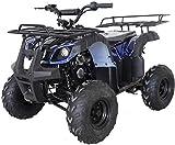X-PRO ATV 4 wheelers for Sale 125cc ATV Quad Four Wheelers Youth ATV 4 wheelers with Remote Control,Big 16'' Tires(Spider Blue)