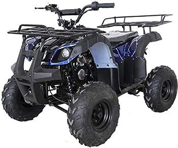 X-PRO ATV 4 wheelers for Sale 125cc ATV Quad Four Wheelers Youth ATV 4 wheelers with Remote Control,Big 16   Tires Spider Blue